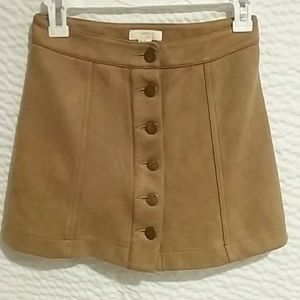 Forever 21 brown faux suede miniskirt, size 24